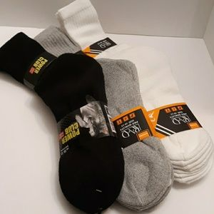 (NWT) BUNDLE OF 12 MEN'S WORK SOCKS